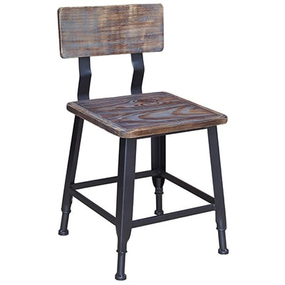 Industrial Series Metal Chair with Distressed Wood