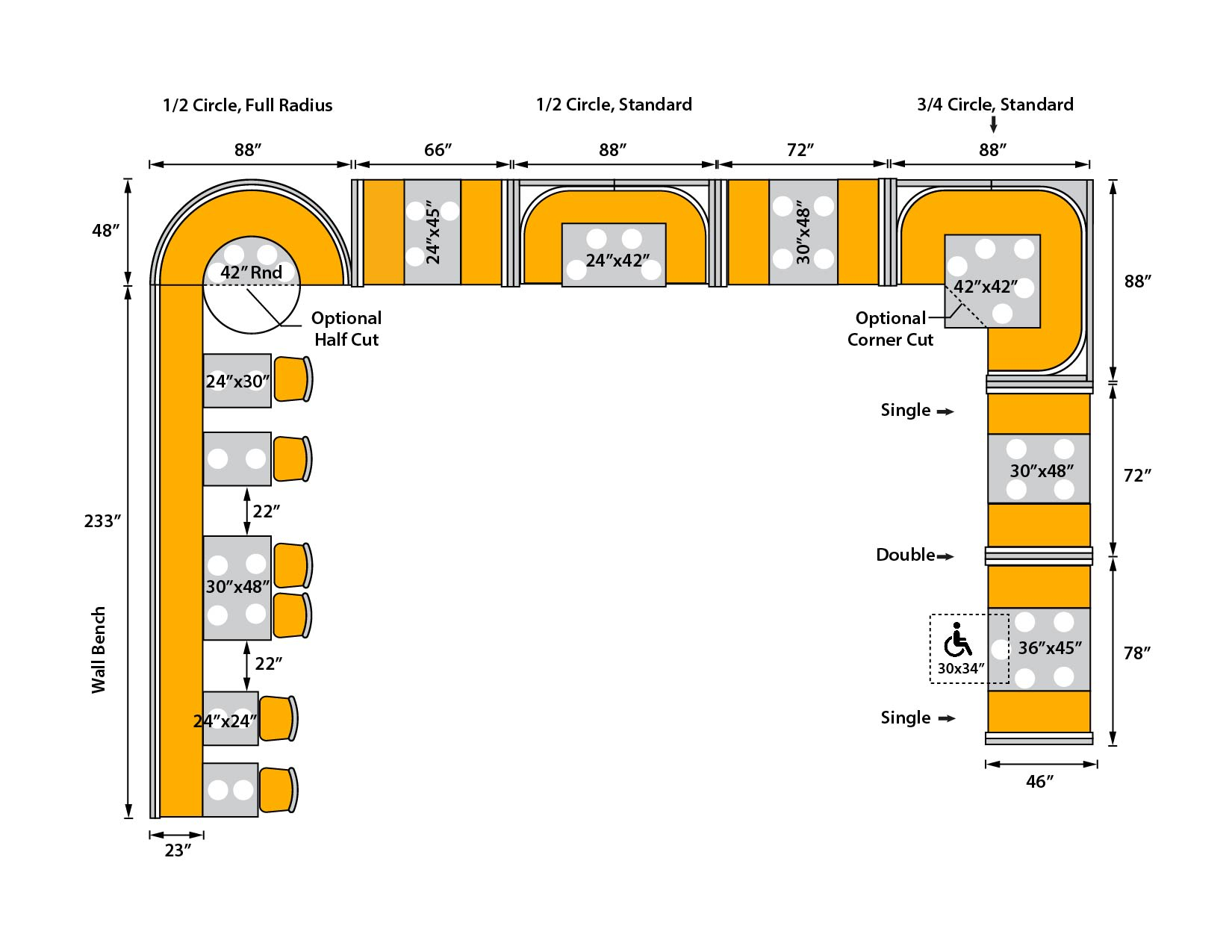 booth seating diagram