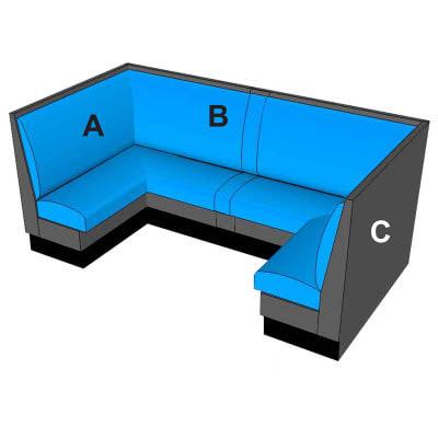half circle booths
