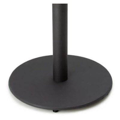 round restaurant table base